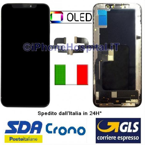 Display LCD Schermo Vetro per iPhone XS Oled Touch Screen