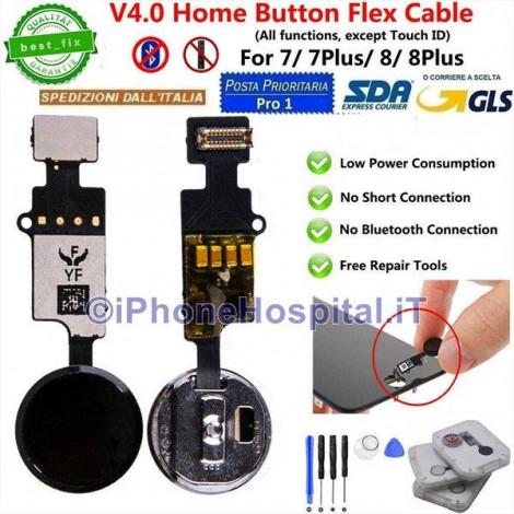 Flex Cable Ripristino Tasto Home per iPhone 7 / 7P / 8 / 8P Nero ( Black )