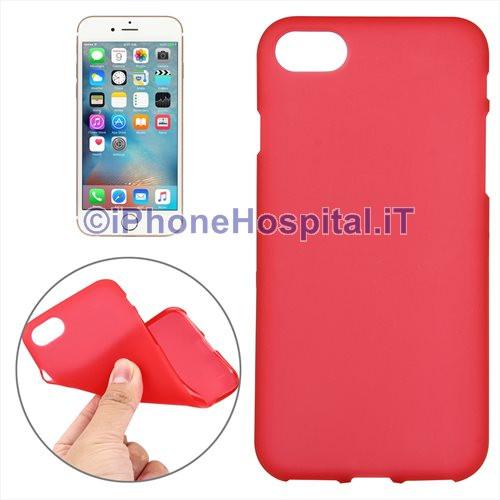 custodia iphone 7 rossa trasparente