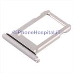 Slot Porta Sim Carrello Carrellino per Apple iPhone XS Bianco (Silver)