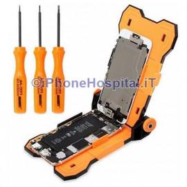 Supporto Regolabile per Riparazioni iPhone + Kit Cacciavite 4 in 1