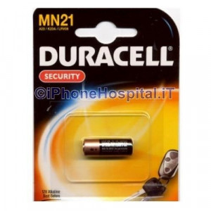 1 Pila Batteria 12V Alkalina DURACELL MN21 A23 K23A LRV08 MN21/23 Scadenza 2021