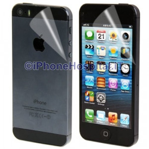 2 in 1 Pellicola Protettiva Antigraffio Display Fronte + Retro per iPhone 5 5S 5C