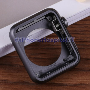 Scocca Telaio Cover per Apple Whatch 38mm 1 Serie 7000 Nero