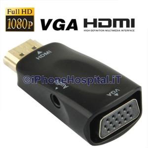 Adattatore Convertitore HDMI Full HD 1080P a VGA adatto a Monitor / Proiettori