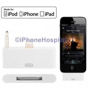 Adattatore Audio da 8 Pin a 30 Pin per iPhone 5 colore Bianco