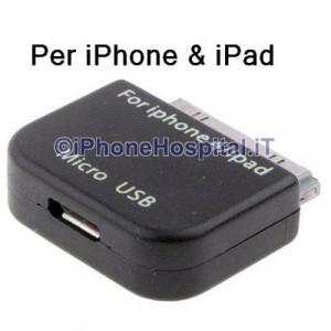 Adattatore Convertitore Micro USB pe iPhone 4,4S,3GS/3G,iPad 2/iPad 3,iPod Touch
