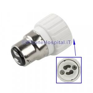 Adattatore per lampadine GU10 a B22