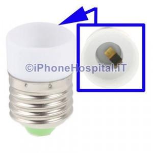 Adattatore per lampadine LED E27 a E14