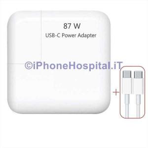 """Alimentatore Rete USB-C (87W) per MacBook 15"""" iPhone,Galaxy,Huawei LG e altri"""