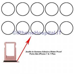 Anello in gomma Guarnizione porta Sim iPhone 7 & 7 Plus