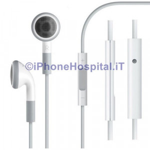 Auricolare Originale Stereo Apple iPhone 3GS 4 4S Controllo Volume MB770 Bianco
