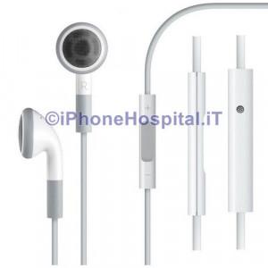 Auricolare Originale Stereo Apple iPhone 3GS 4 4S Controllo Volume MB770 Bianco