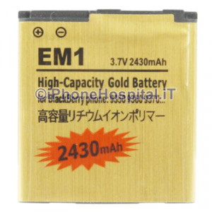Batteria Alta Capacita per Blackberry 9350 / 9360 / 9370 E-M1