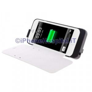 Batteria Esterna Ricaricabile con Supporto iPhone 6 Bianco 2800 mAh Slot Carte