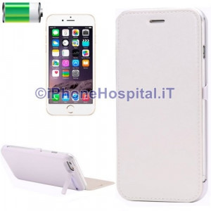 Batteria Esterna Ricaricabile con Supporto iPhone 6 Bianco 3000 mAh