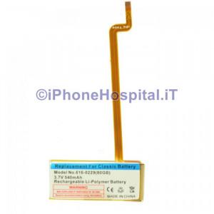 Batteria per iPod Video 30 Gb / iPod Classic 80, 120, 60 GB - 616-0229
