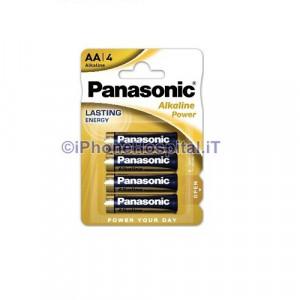 4 Pile Batterie Pila Batteria Alkaline Stilo AA Panasonic LR6