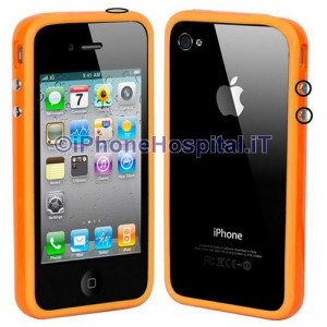 Bumper in silicone semi-rigido Arancione per iPhone 4