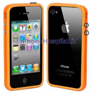 Bumper in silicone semi-rigido Arancione per iPhone 4
