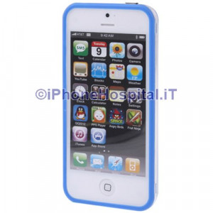 Bumper iPhone 5 Trasparente con bordo blue