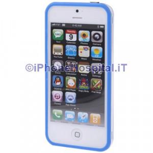Bumper iPhone 5 Trasparente con bordo blue
