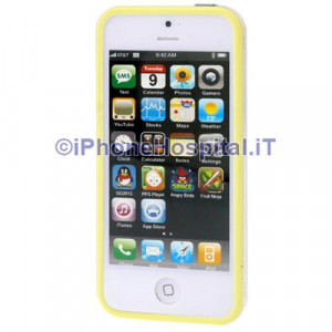 Bumper iPhone 5 Trasparente con bordo giallo