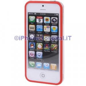 Bumper iPhone 5 Trasparente con bordo rosso
