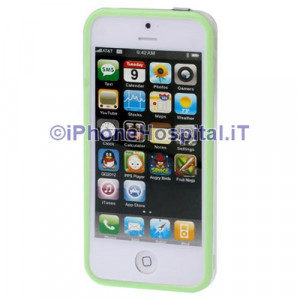 Bumper Iphone 5 Trasparente con bordo Verde