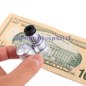 Lente di Ingrandimento Portatile 60X luce LED Rilevatore Banconote