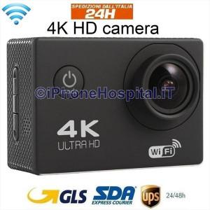 """Videocamera di Azione WiFi con Schermo 2"""" 4K con Custodia Impermeabile"""