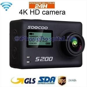"""Videocamera Azione WiFi Schermo 2,45""""Touch Ultra HD,WiFi Vocale GPS Telecomando"""
