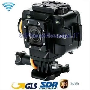 """Videocamera Azione WiFi Schermo 1,5"""" 1080 20mt,WiFi-APP-MIC ext Starlight Night"""