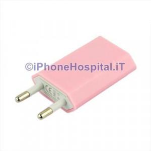 Carica Batteria Per iPhone 6 5S 5C 5 4S 4 Rosa Pink Casa Muro Caricatore Charger