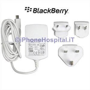 Carica Batterie da Rete per Blackberry ASY-07965-007 Mini Usb colore Bianco