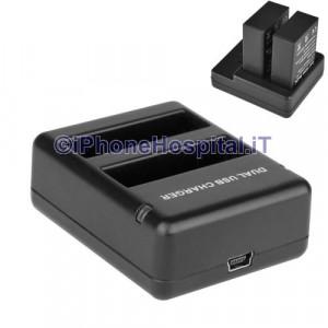 Carica Batterie Doppio da Viaggio per GOPRO HERO 4 - AHDBT- 401
