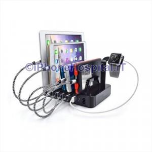 Caricabatteria Rapido Professionale 6 Porte USB 8,8A AC100-240V