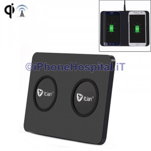 Caricatore Wireless Doppio per iPhone X /8 / 8 Plus / 5S /Samsung Itian Q300