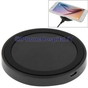 Caricatore Wireless QI iPhone 8 / 8 Plus / X & Samsung / Nokia / HTC / LG Nero