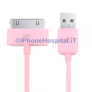CavCavo Caricabatterie Da 30 Pin a USB - Pink - Apple Iphone 3 4 4S Ipad Ipod