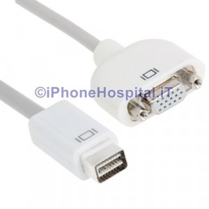 Cavo Adattatore Mini DVI-VGA per Mac Imac MacBook