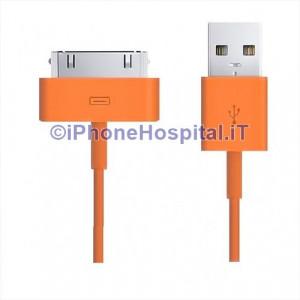 Cavo Caricabatterie Da 30 Pin a USB - Arancio - Apple Iphone 3 4 4S Ipad Ipod