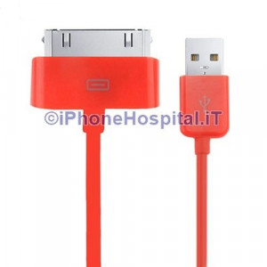 Cavo Caricabatterie Da 30 Pin a USB - Rosso - Apple Iphone 3 4 4S Ipad Ipod