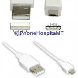 Cavo di Connessione Micro USB colore Bianco 3 MT