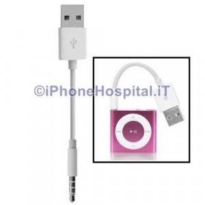Cavo Dati USB / Audio JACK Auto Aux Cavetto Carica MP3 per IPOD SHUFFLE 3G 4 5 6