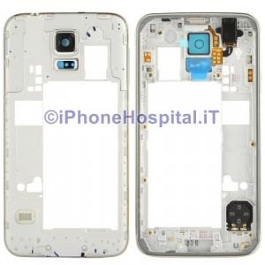 Chassis Retro Cover Medio Silver per Samsung Galaxy S5 i9600 G900F