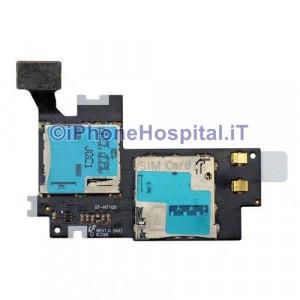 Circuito Flat con Lettore Carta Sim e Memory Card per Samsung Galaxy Note 2 GT .jpg