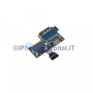Circuito Flat con Lettore Carta Sim e Memory Card per Samsung  Galaxy S4 Mini i9195