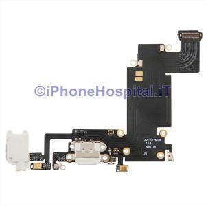 Connettore Ricarica Jack Cuffie Microfono Flat Antenna Colore Bianco iPhone 6 Plus