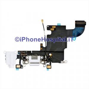 Connettore Ricarica Jack Cuffie Microfono Flat Antenna Bianco iPhone 6S - 821-00078-08